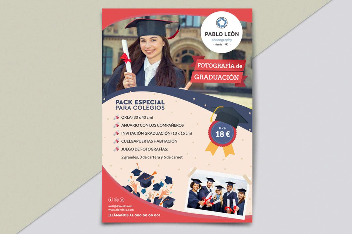 Diseño de flyers online - Comunicación Gráfica para Pablo León - Fotografía