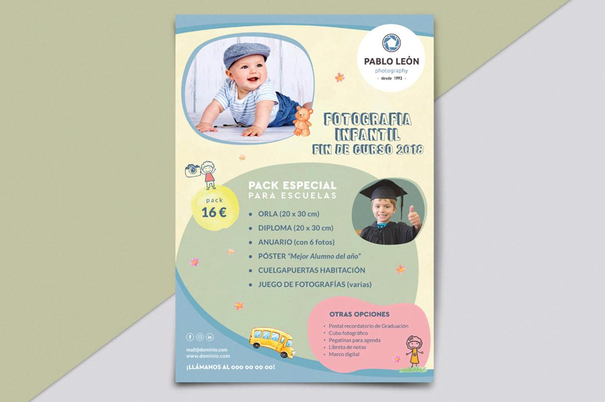 Flyer promocional diseño - Comunicación Gráfica para Pablo León - Fotografía