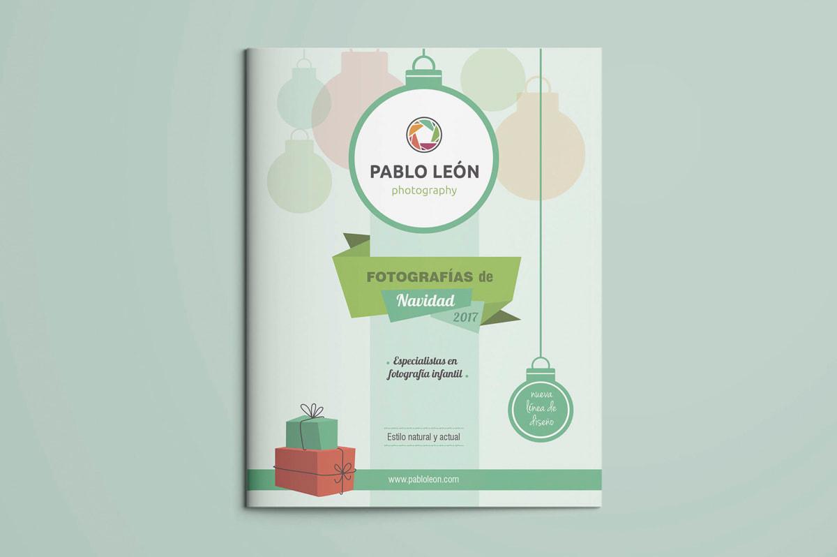 Diseño de folletos - Comunicación Gráfica para Pablo León - Fotografía