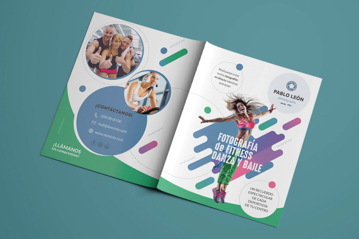 Folletos de Diseño Gráfico - Comunicación Gráfica para Pablo León - Fotografía