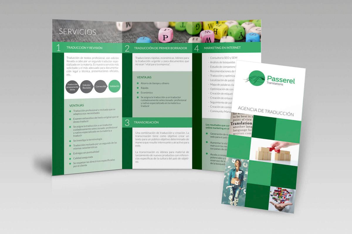 Diseño de trípticos publicitarios para profesionales