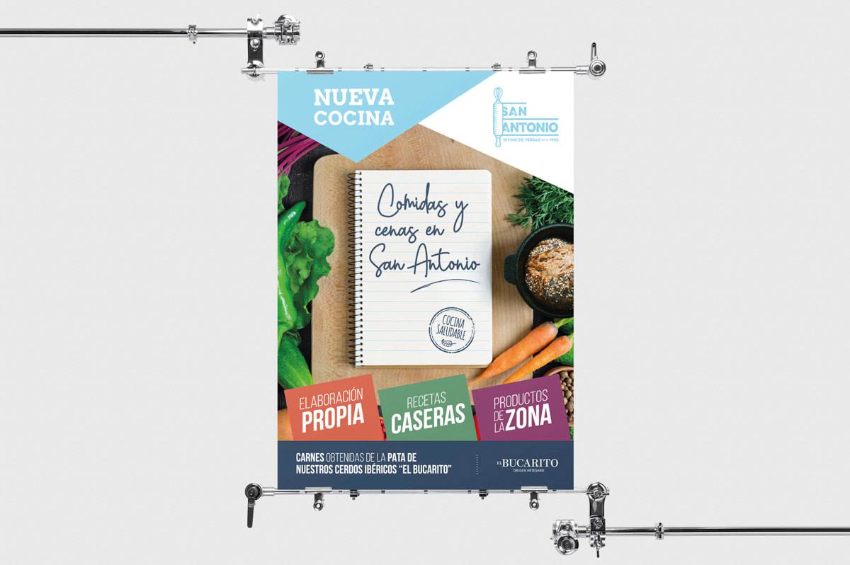 Precio diseño carta restaurante - Comunicación Gráfica para San Antonio - Panificadora