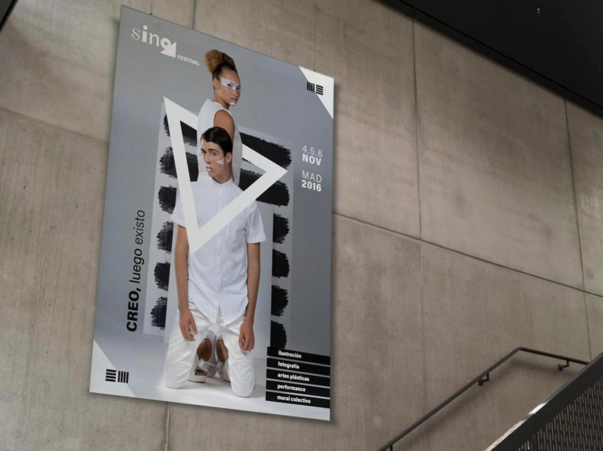 Diseño de carteles para exposición - Branding para Sino - Festival de Ilustración