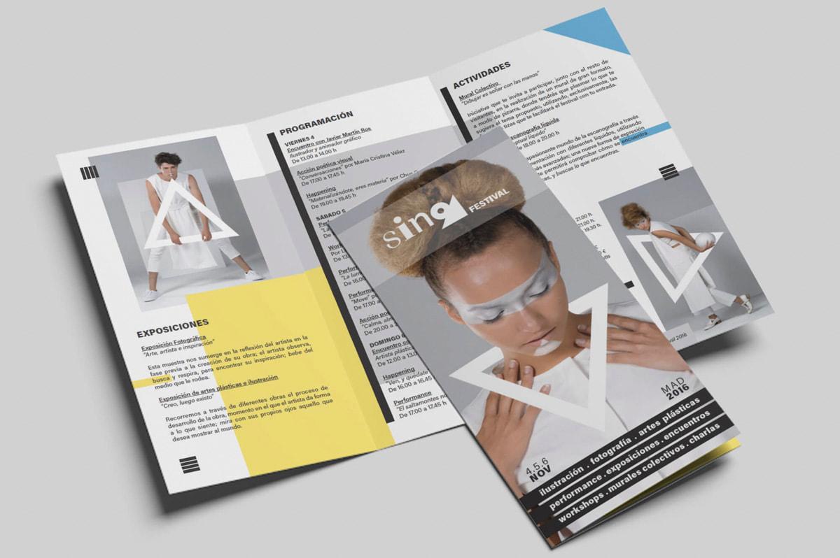 Diseño de trípticos publicitarios para evento