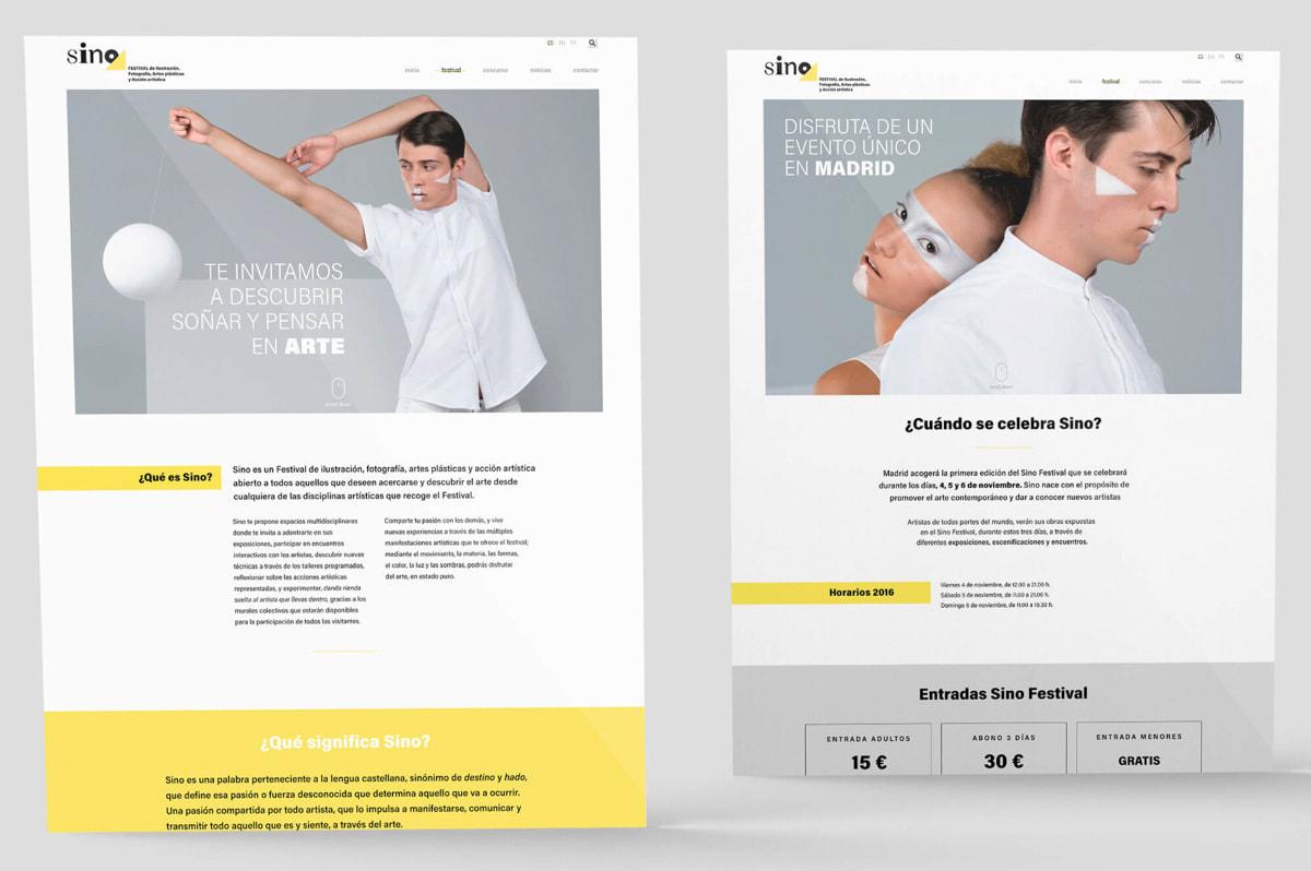 Diseño de Página web para evento