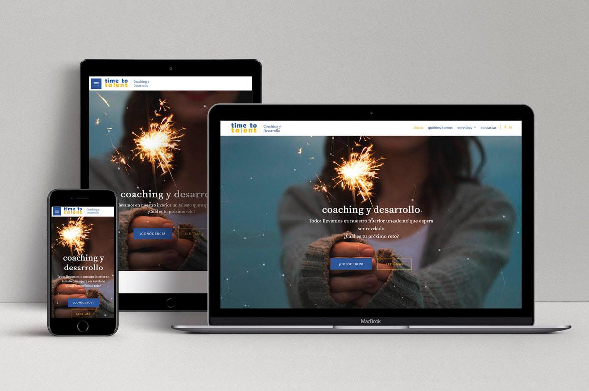 Creación de Página web para empresa de Coaching
