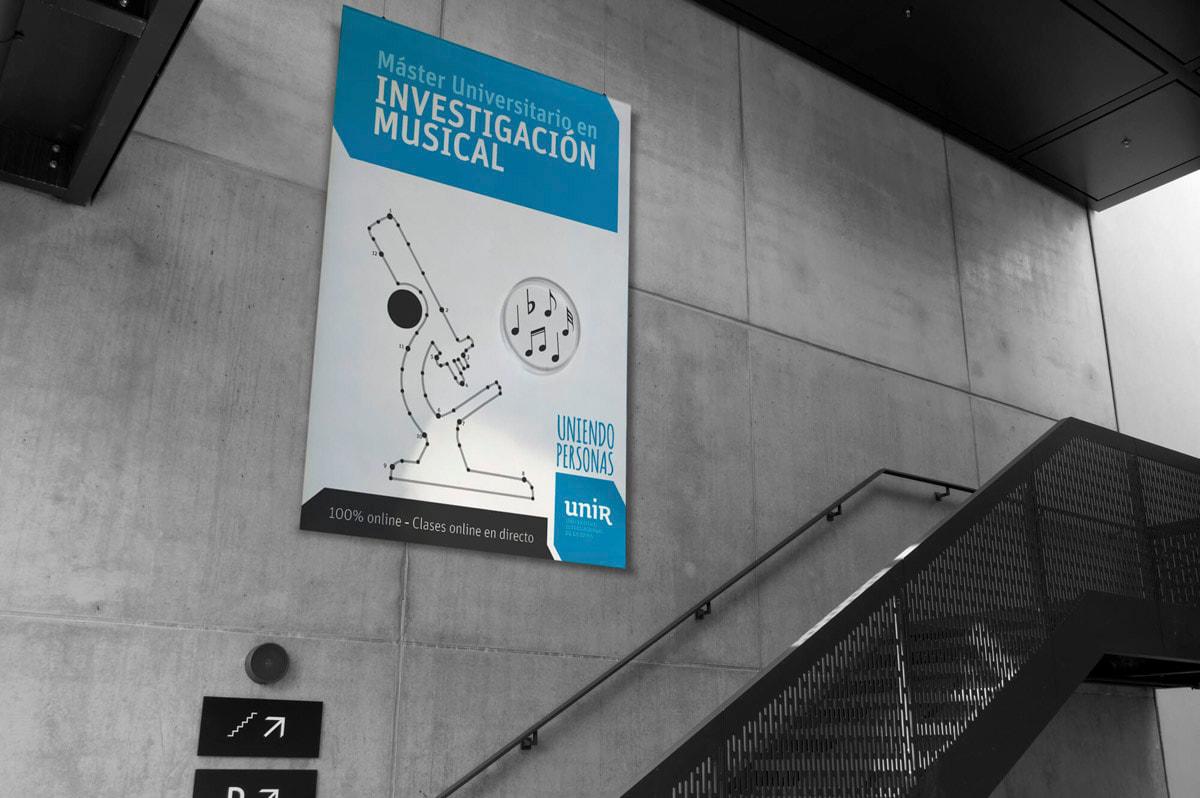 Diseño de carteles publicitarios para la UNIR