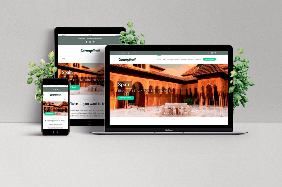 Diseño de página web para Agencia de viajes