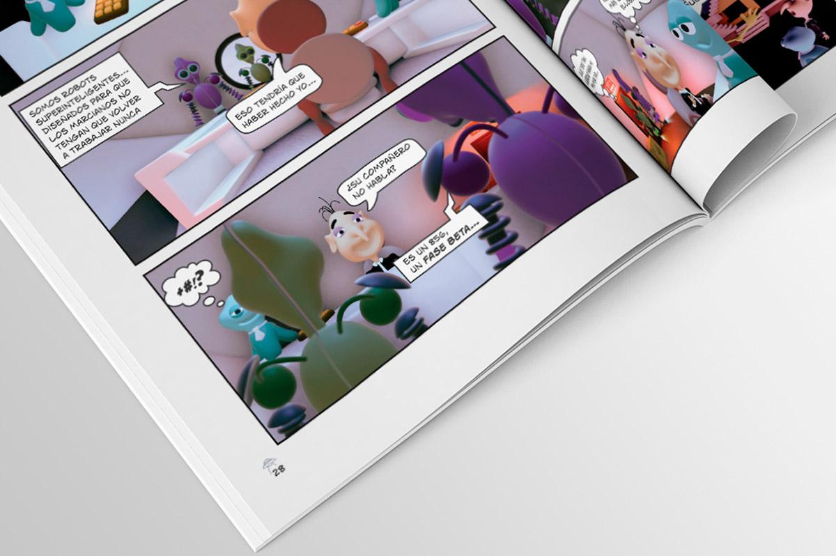 Diseño Gráfico editorial – Maquetación de Cómic en Tapa Blanda