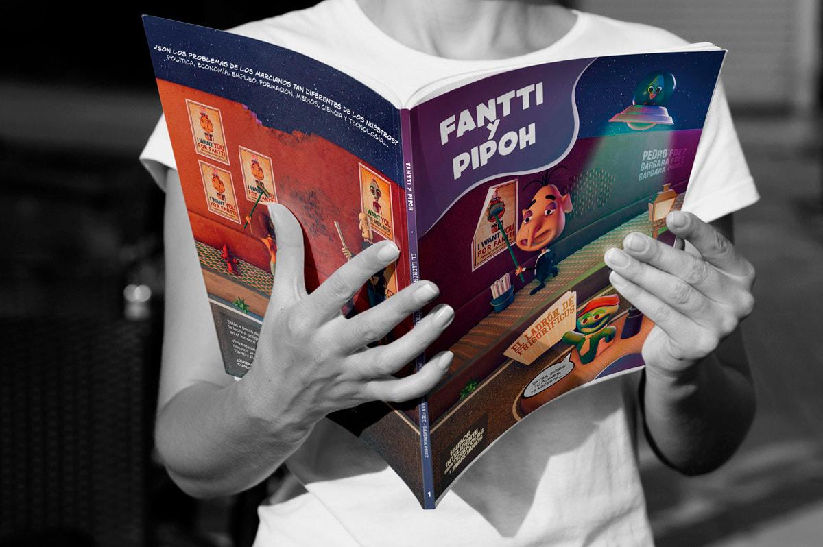 Diseño Gráfico editorial – Diseño de Portada de Cómic