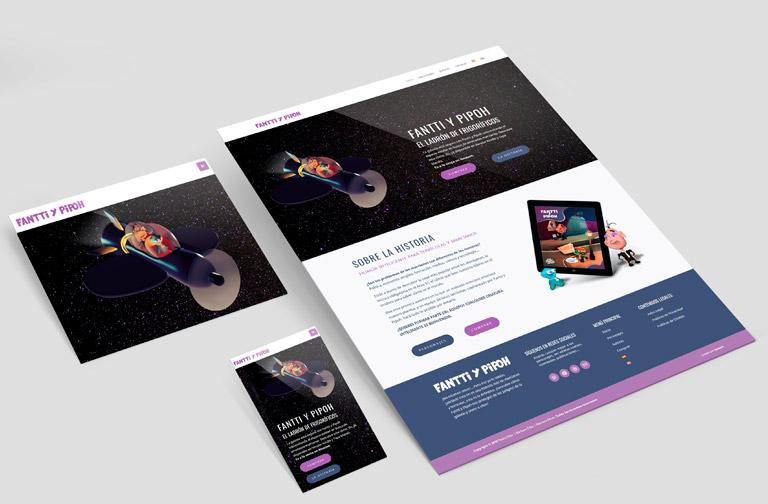 Diseño web WordPress para marca de Cómics