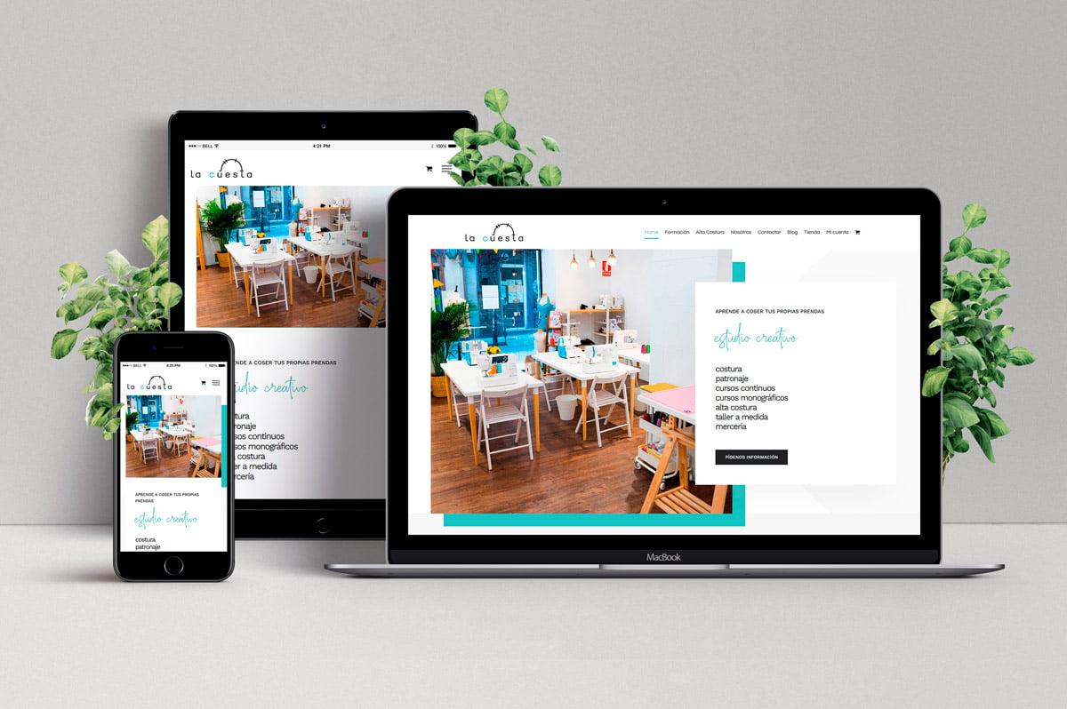 Diseño de Tienda Online para Academia de Costura Creativa